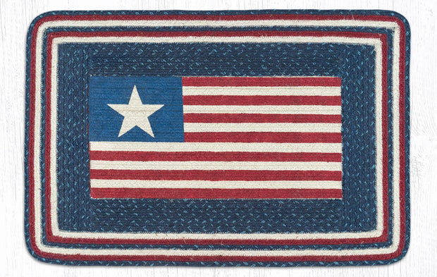 American Flag Oblong Patch Rug