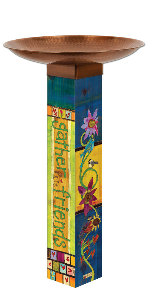 Studio-M Gather Friends Bird Bath Art Pole
