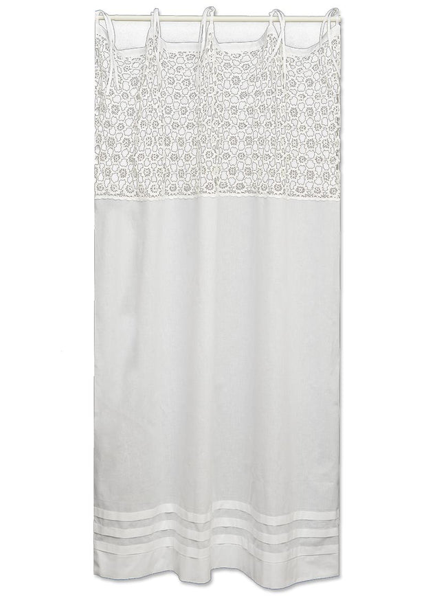 Heritage Lace Crochet Envy Pearl Panel - White