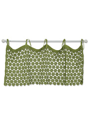Heritage Lace Pearl Valance - Fern