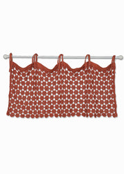 Heritage Lace Crochet Envy Pearl Valance - Ginger Spice