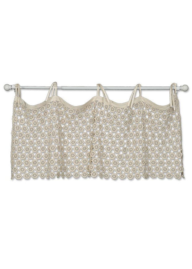 Heritage Lace Crochet Envy Pearl Valance - Natural