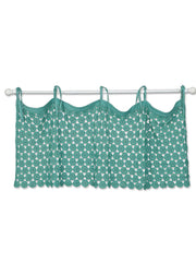 Heritage Lace Crochet Envy Pearl Valance - Teal