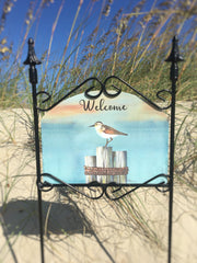 Heritage Gallery Pier One Welcome Garden Sign