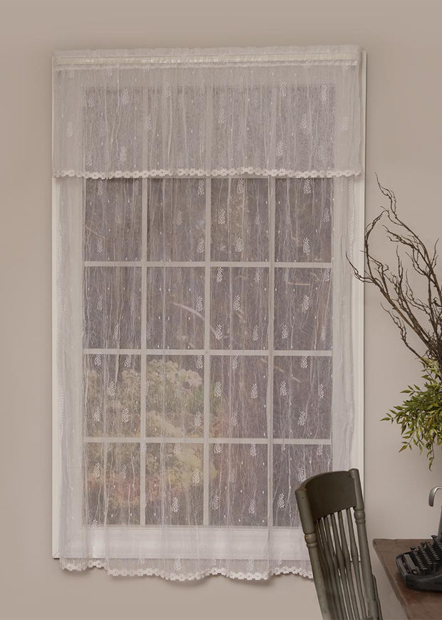 Heritage Lace Pineapple Curtain Collection, White