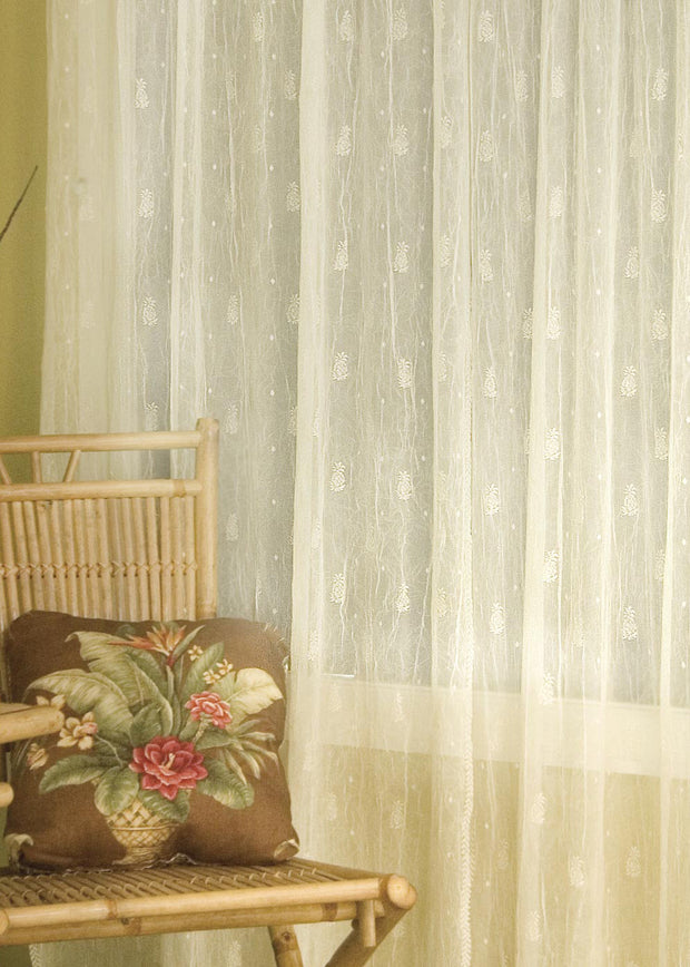 Heritage Lace Pineapple Curtain Collection, Ecru