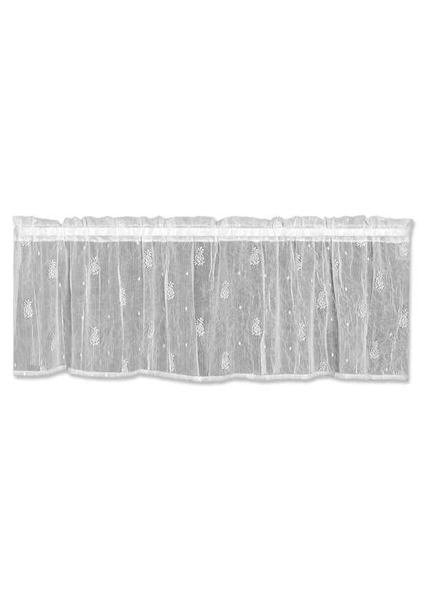 Heritage Lace Pineapple Valance, White