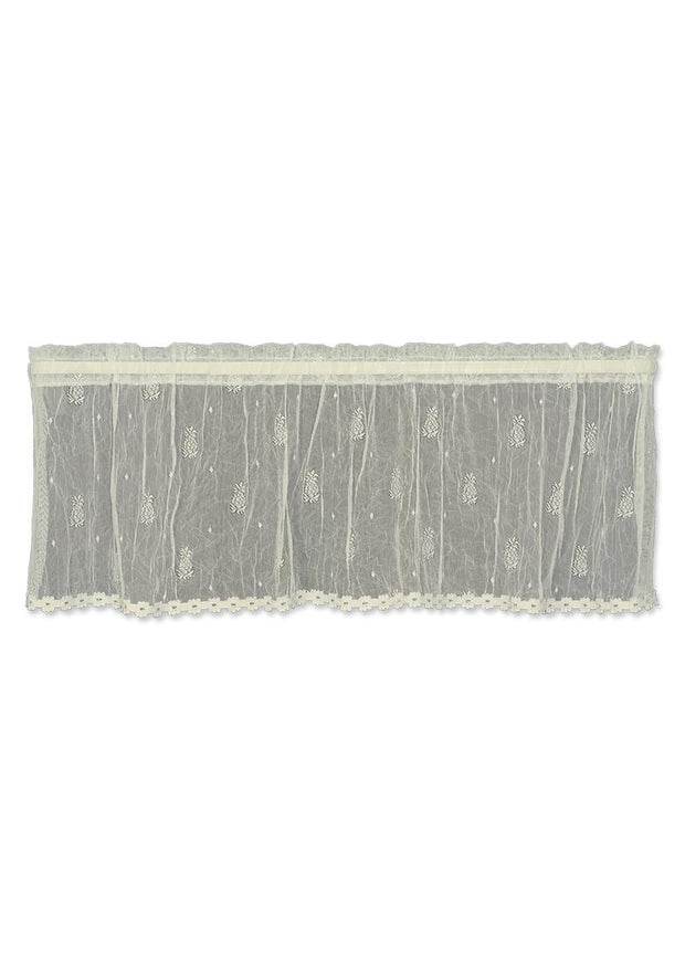 Heritage Lace Pineapple Valance with Trim, Ecru
