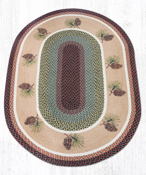 Pinecone Oval Patch Rug