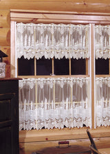 Heritage Lace Pinecone Curtain Collection, White