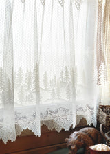 Heritage Lace Pinecone Curtain Detail