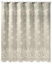 Heritage Lace Pinecone Shower Curtain, Ecru