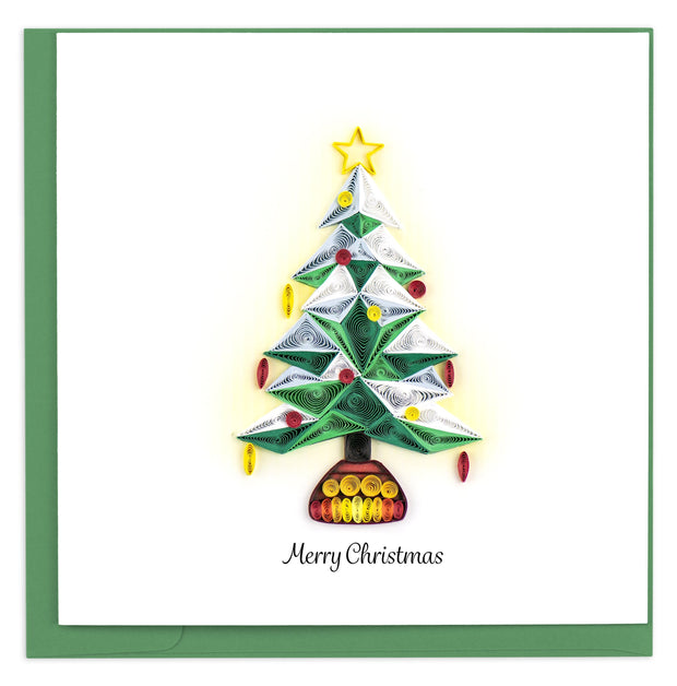 Polygonal Christmas Tree Quilling Card