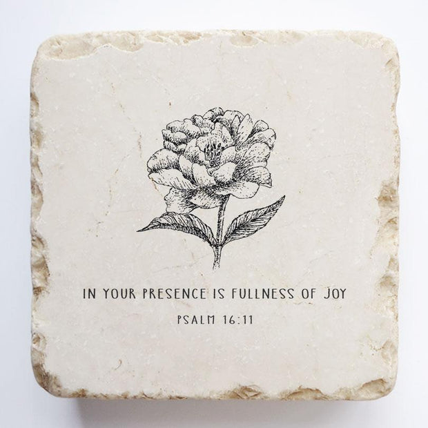Twelve Stone Art Psalm 16:11 Scripture Stone, Small Block