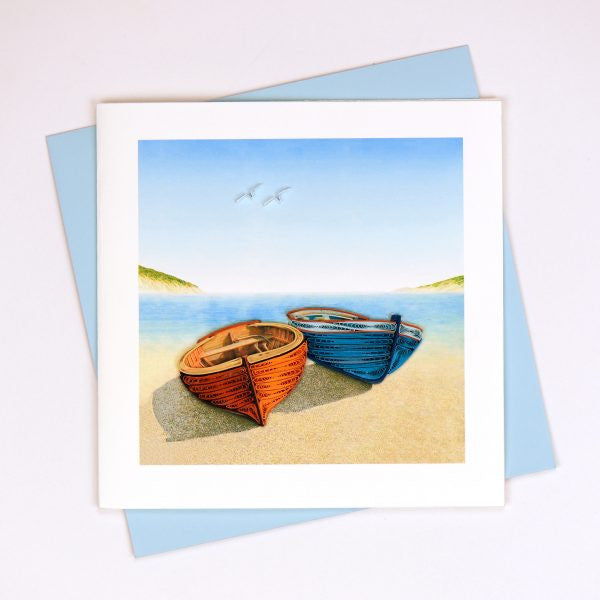 Boats Quilling Card