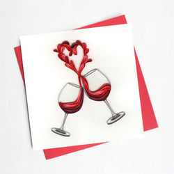 A Toast to Love Quilling Card