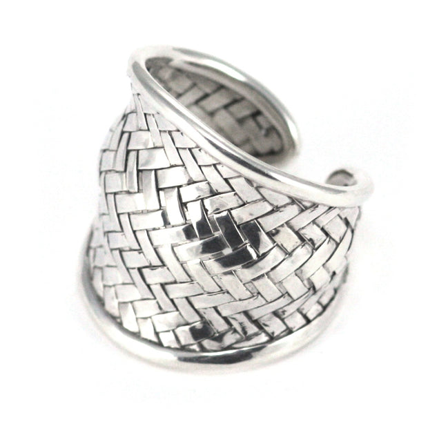 ANYA Domed Woven Adjustable Ring