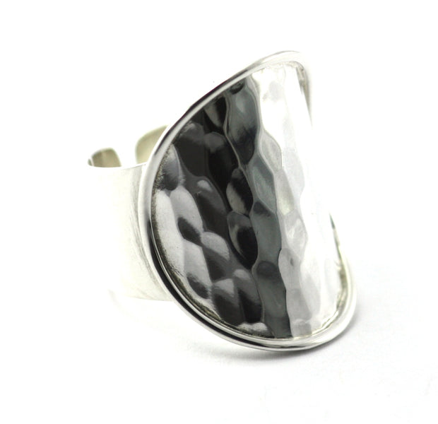DASA Hammered Cigar Band Adjustable Ring