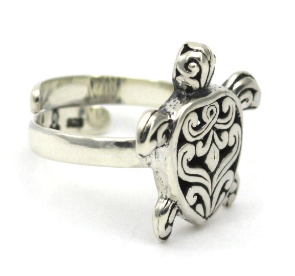 Indiri Collection WEDA Filigree Sea Turtle Adjustable Ring