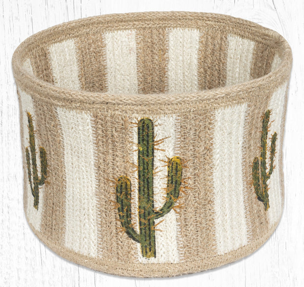 "Capitol Earth Rugs Pinecone B Round Natural Rope Basket, 9"" x 7"""