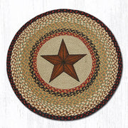 "Capitol Earth Rugs Barn Star Round Patch Rug, 27"" Round"