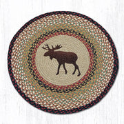"Capitol Earth Rugs Moose  Printed Jute Patch Rug, 27"" Round"