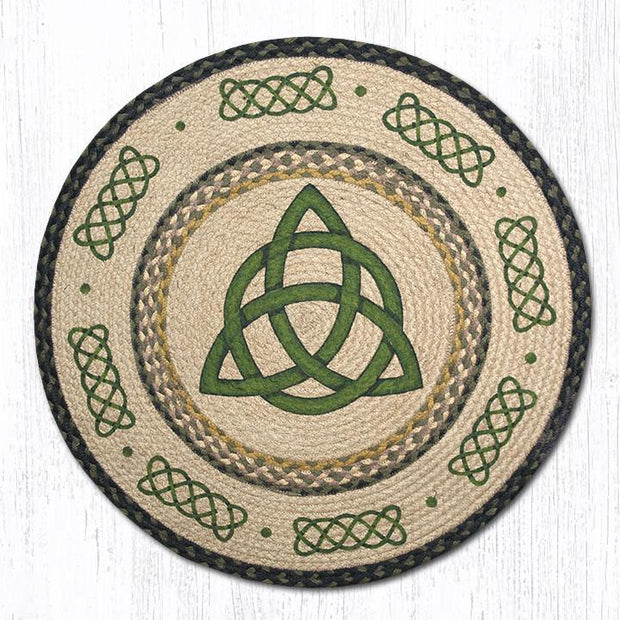 "Capitol Earth Rugs Irish Knot Round Patch Rug, 27"" Round"