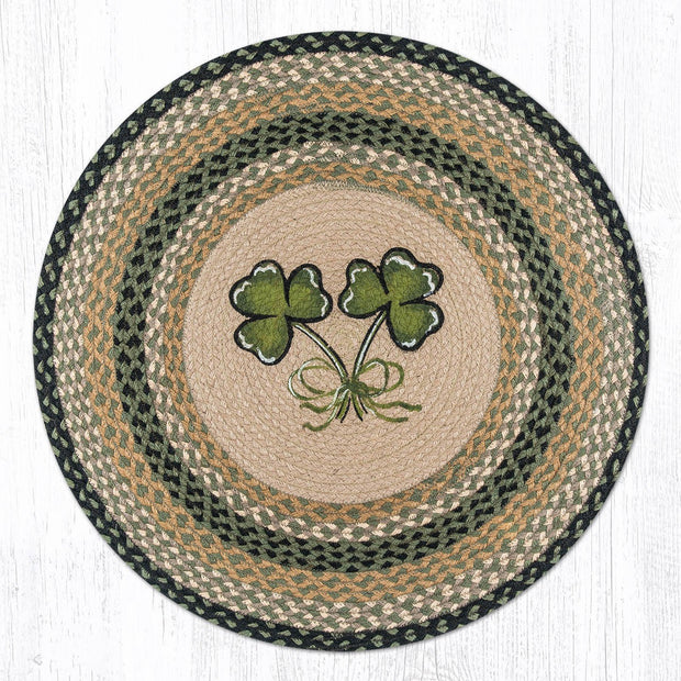 "Capitol Earth Rugs Shamrock Patch Rug, 27"" Round"