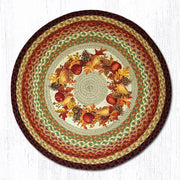 "Capitol Earth Rugs Autumn Wreath Patch Rug, 27"" Round"
