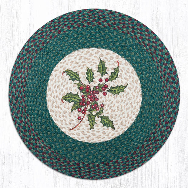 "Capitol Earth Rugs Holly Round Patch Rug, 27"" Round"