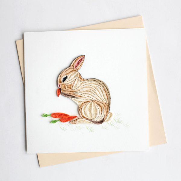 Easter Rabbit Quilling Card