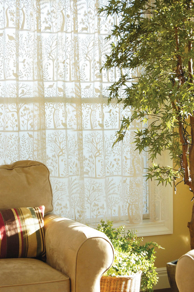Heritage Lace Rabbit Hollow Curtain Collection, Cafe