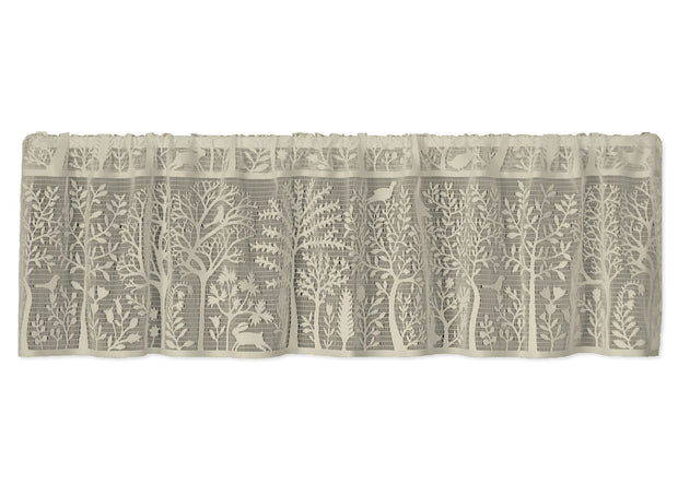 Heritage Lace Rabbit Hollow Valance, Cafe