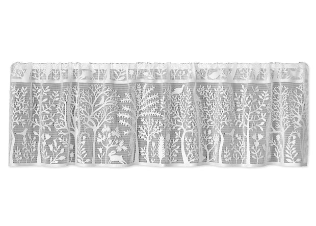 Heritage Lace Rabbit Hollow Valance, White