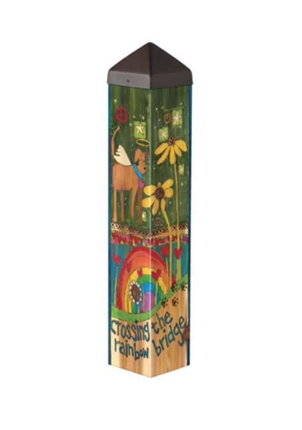 "Studio-M Rainbow Bridge Dog 20"" Art Pole"