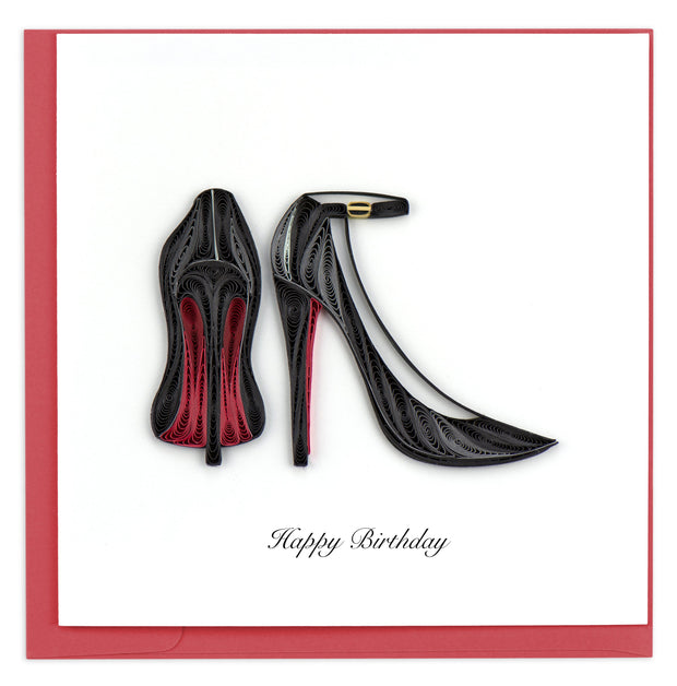 Red Bottom Heels Quilling Card
