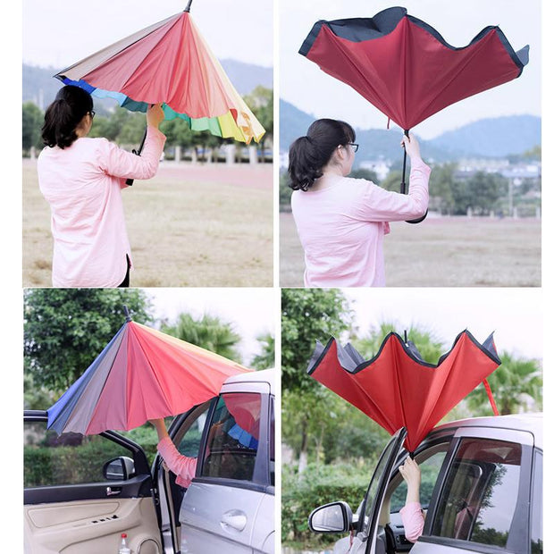 Unicorn Hair Reverse Close Umbrella