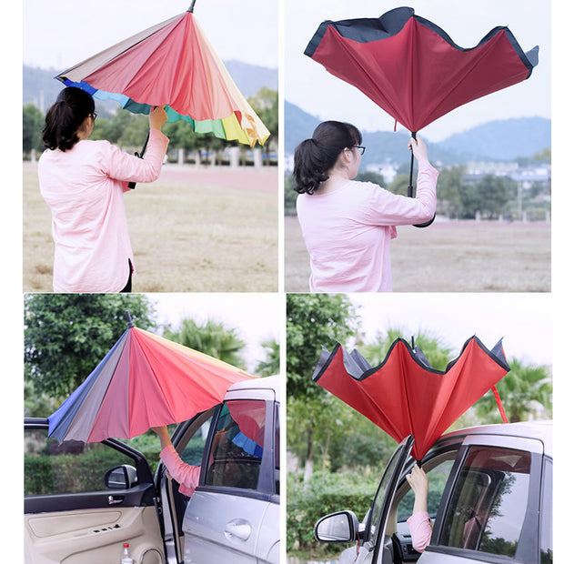 Reverse Close Umbrellas