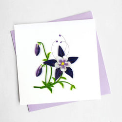 Rocky Mountain Columbine Quilling Card (state flower of Connecticut)