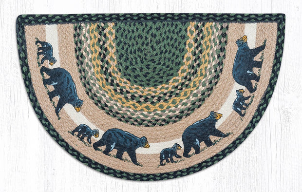 "Capitol Earth Rugs Mama and Baby Bear Printed Slice Rug, 18"" x 29"""