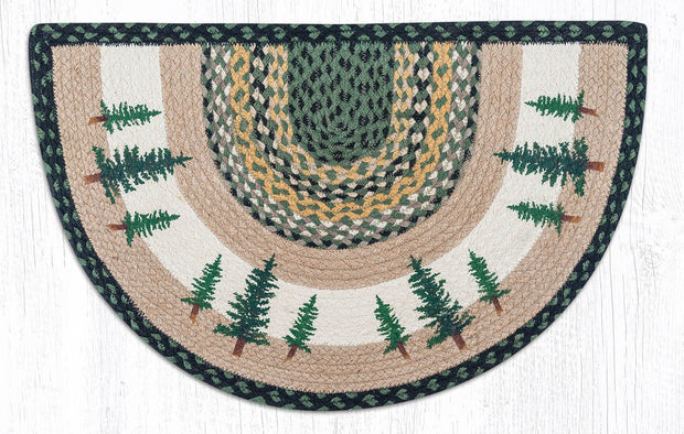 "Capitol Earth Rugs Tall Timbers Printed Slice Rugs, 18"" x 29"""