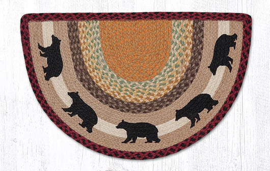 Capitol Earth Rugs Cabin Bear Printed Slice Rug, 18