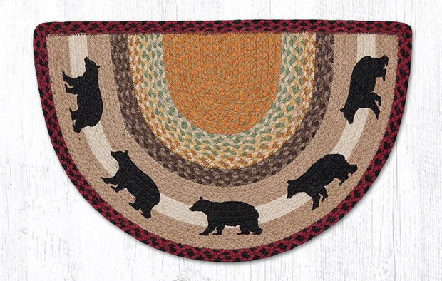 "Capitol Earth Rugs Cabin Bear Printed Slice Rug, 18"" x 29"""