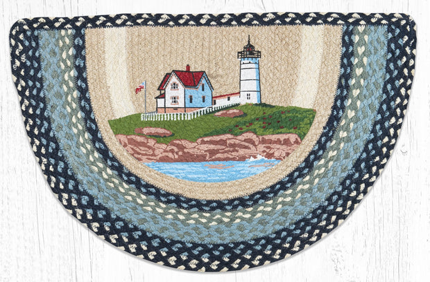"Capitol Earth Rugs Nubble Lighthouse Printed Slice Rug, 18"" x 29"""
