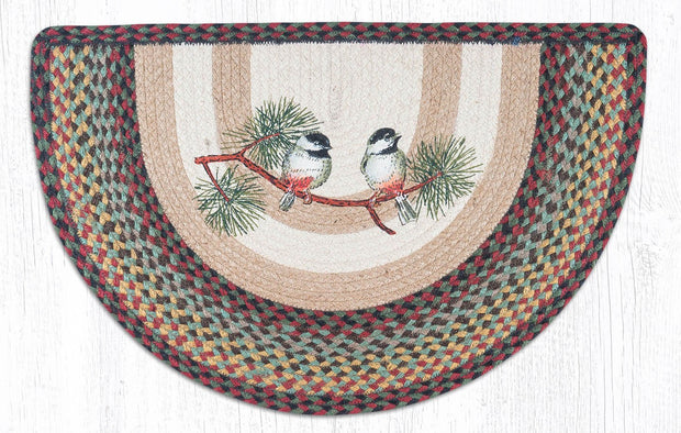 "Capitol Earth Rugs Chickadee Printed Slice Rug, 18"" x 29"""
