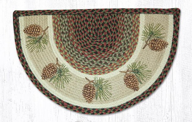 "Capitol Earth Rugs Pinecone Printed Slice Rug, 18""x 29"""