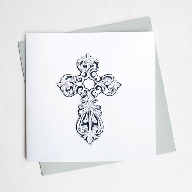 Cross Quilling Card