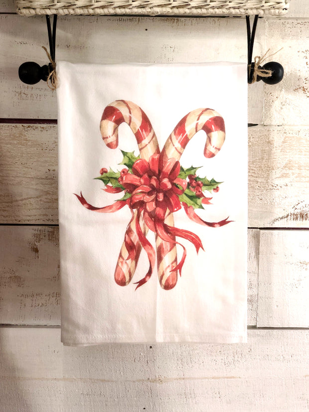 Southern Sisters Candy Canes Flour Sack Tea Towel