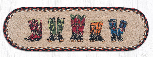 "Capitol Earth Rugs Boots Printed Jute Stair Tread, 8.25"" x 27"""