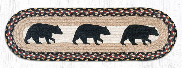 "Capitol Earth Rugs American Bear Jute Stair Tread, 8.5"" x 27"" Oval"